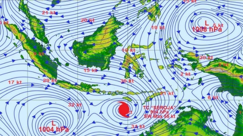 4 Fakta Pada Siklon Penyebab Banjir Bandang di NTT, Yaitu Siklon Tropis Seroja